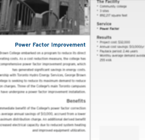 Power Factor Correction Case Studies